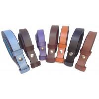 Sangle de ceinture cuir 2.5 cm de large avec pression.