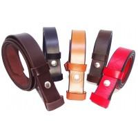 sangles de ceinture cuir de 3 cm de large avec pression pour la boucle.